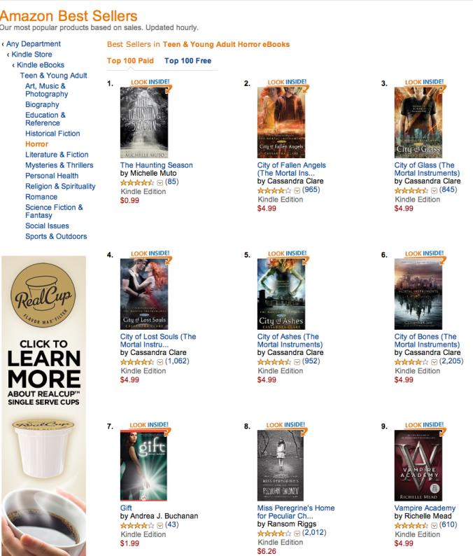 Amazon #1 YA Horror