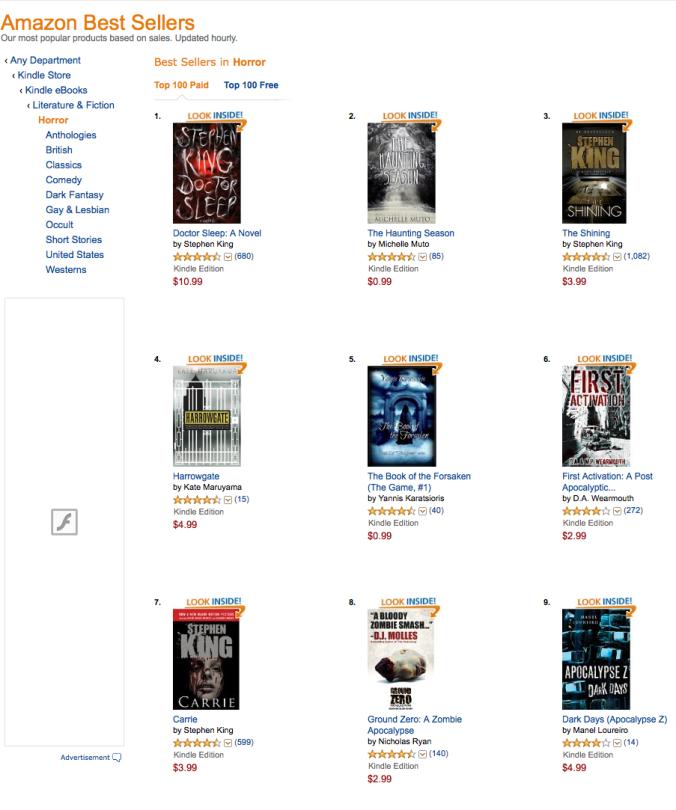 Amazon Best Seller #2 Horror